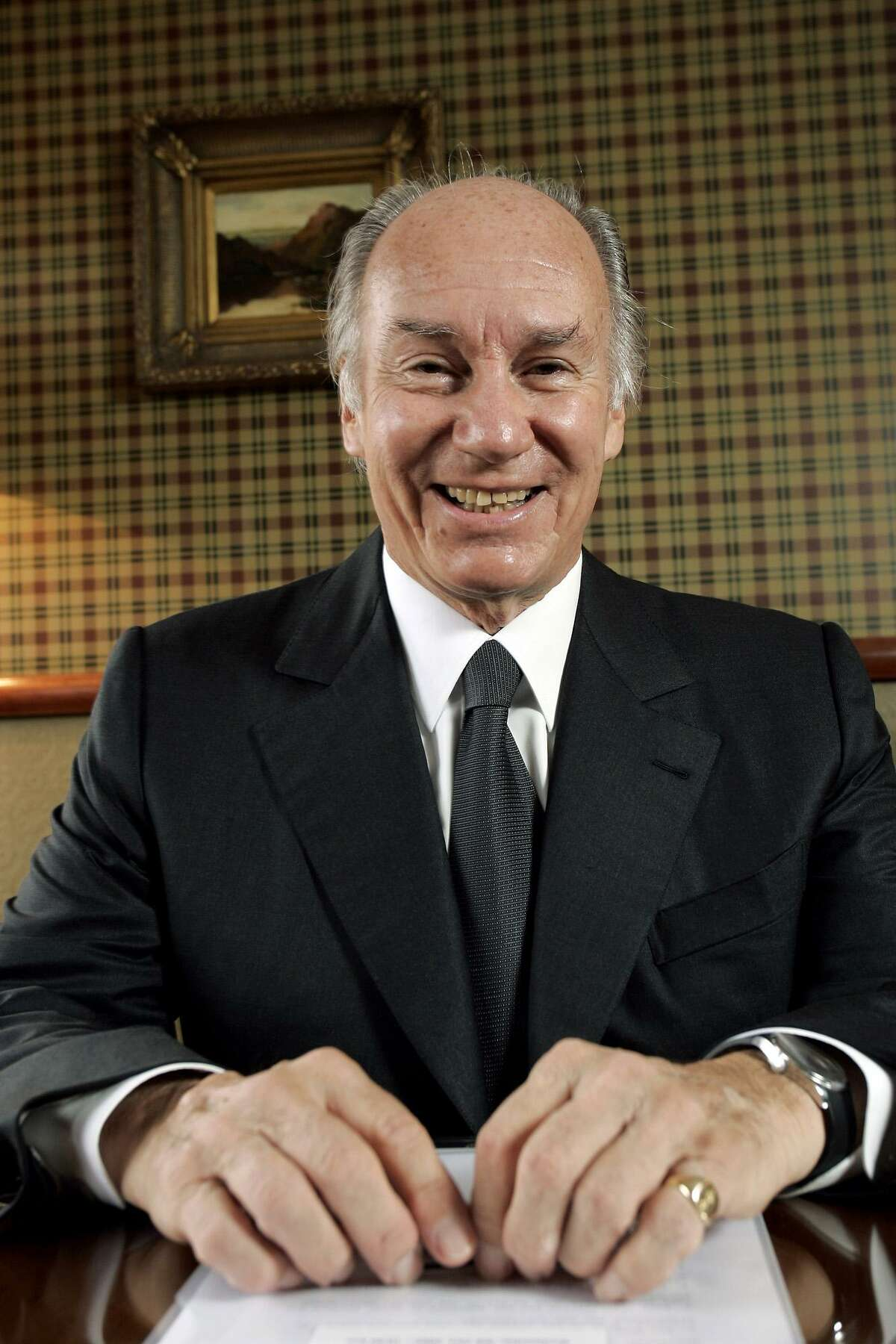 His Highness Prince Karim Aga Khan IV, the 49th Imam of the Ismaili Muslims, speaks during a 2005 interview with Bloomberg News in Edinburgh, Scotland.