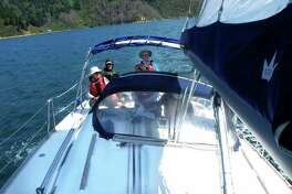 The 14-day sailing course run by the National Outdoor Leadership School used two chartered sloops, one 35-feet long, the other 39-feet. Students took the helm the first day.
