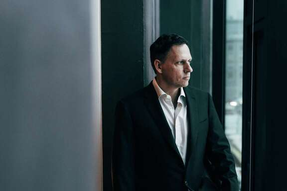 "Peter Thiel, the Silicon Valley investor, at his condo in Manhattan, Jan. 7, 2016. In a 2018 interview, Thiel says he has no regrets about his aggressive support for Donald Trump's candidacy. ""There are all these ways that things have fallen short,"" Thiel said. ""It's still better than Hillary Clinton or the Republican zombies."""