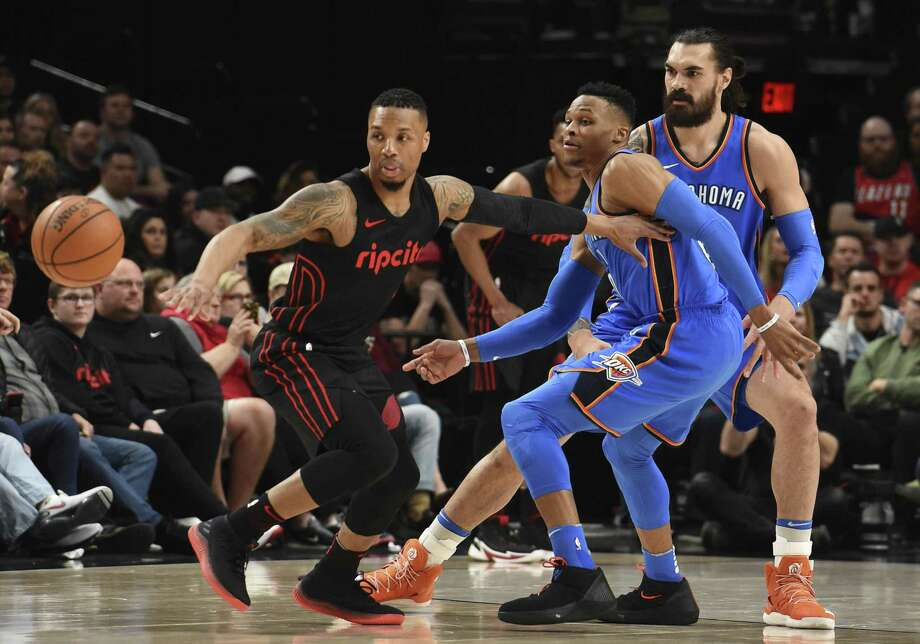Could Damian Lillard or Russell Westbrook's teams surprise? Photo: Steve Dykes / Associated Press / FR155163 AP