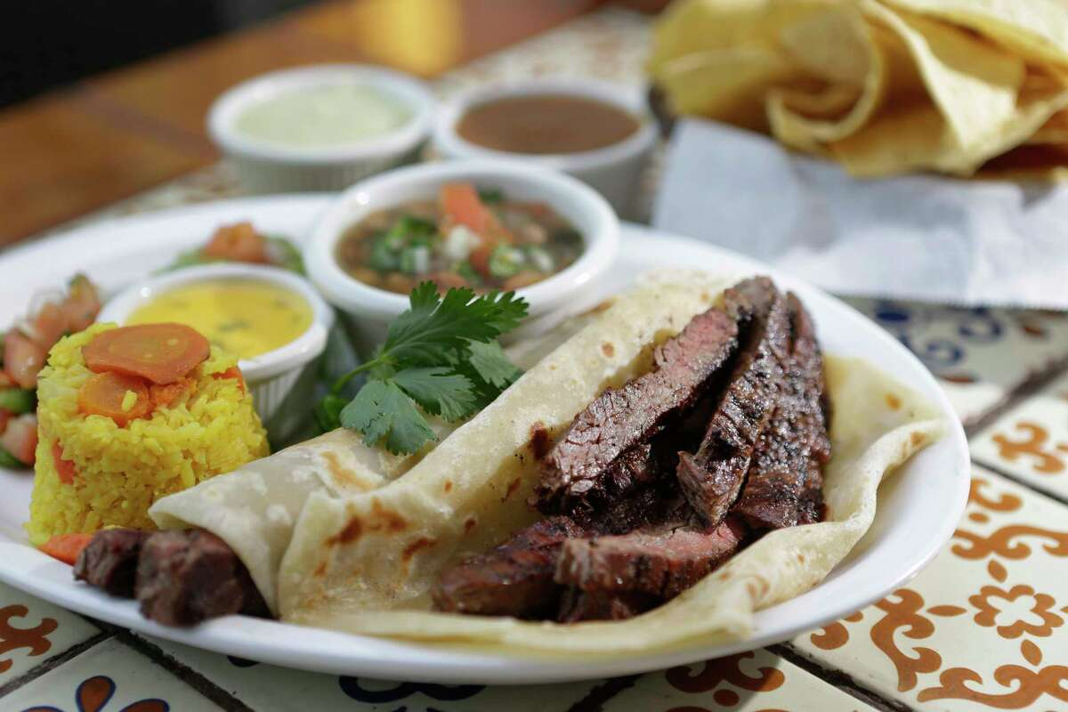 Tacos al carbon are shown at The Original Ninfa's on Navigation, 2704 Navigation, Wednesday, March 21, 2018, in Houston.