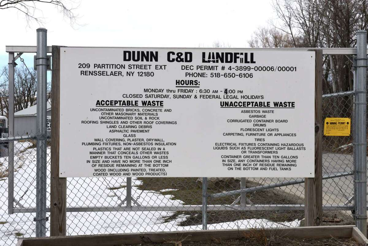 A Cayuga County law firm is soliciting a potential class action lawsuit by neighbors outside of the Dunn construction and demolition debris landfill in Rensselaer. There have been complaints of recurring foul odors from the dump. (Will Waldron/Times Union archives)