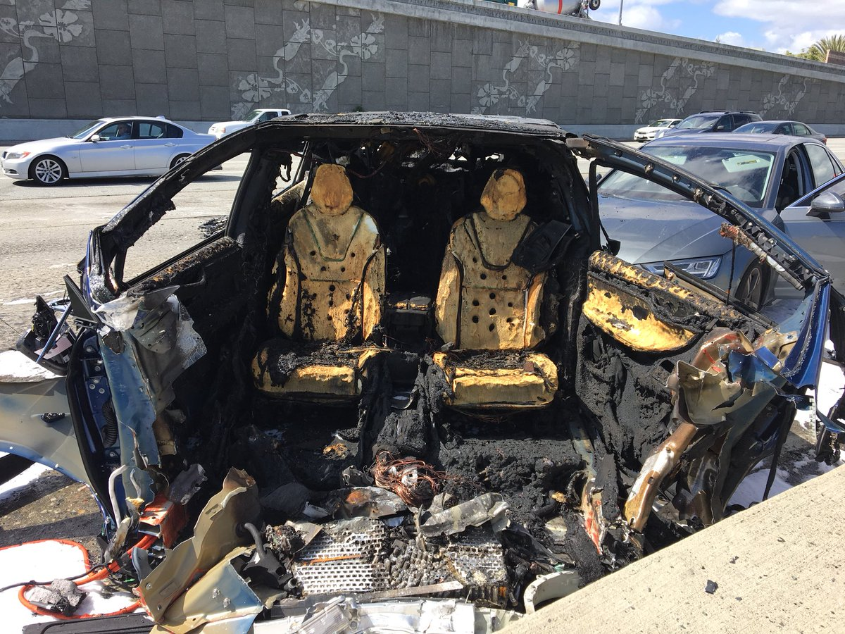 Driver of incinerated Tesla dies after violent Highway 101 ...