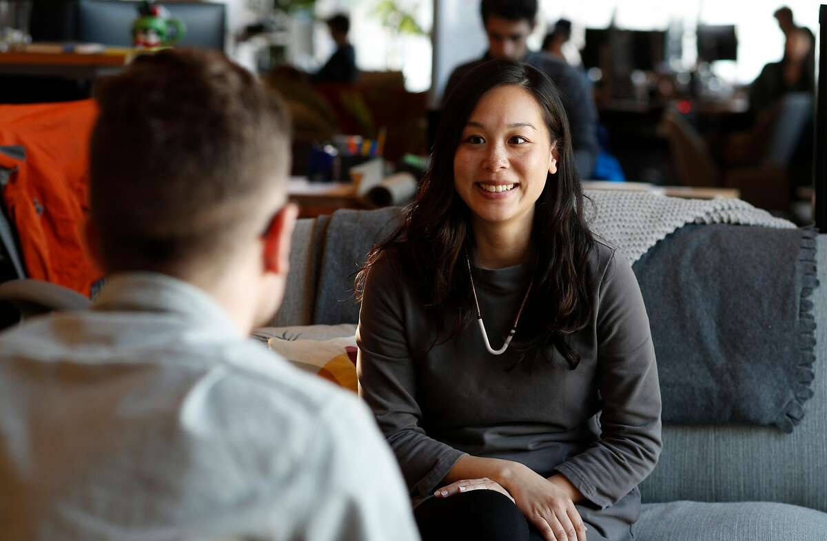 Tiffany Chu is the COO and co-founder of Remix, a company that designs public transit routes for cities, located south of Market St. in San Francisco, Calif., as seen on Thurs. March 22, 2018.