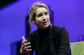 FILE- In this Nov. 2, 2015, file photo, Elizabeth Holmes, founder and CEO of Theranos, speaks at the Fortune Global Forum in San Francisco. The publisher of an investigative book on Theranos has moved up the release date from October to this spring. �Bad Blood: Secrets and Lies in a Silicon Valley Startup� was written by Pulitzer Prize winning journalist John Carreyrou, who in The Wall Street Journal first raised questions about the company�s blood-testing technology. Alfred A. Knopf announced Thursday that publication is now scheduled for May 21.  (AP Photo/Jeff Chiu, File)