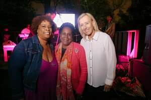 Zina Garrison Hosted Eat Play Love   Charity Weekend Featuring Martina Navratilova on March 3, 2018. The event also featured a fashion show of athletic wear.