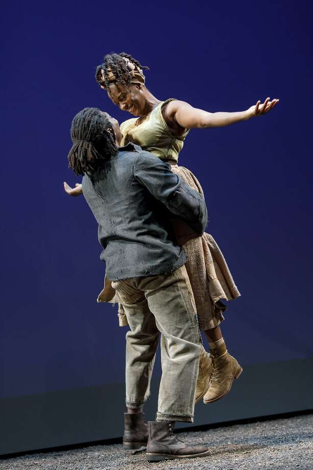 James Udom and Eboni Flowers share a joyful moment. Photo: Joan Marcus / Yale Rep / Joan Marcus