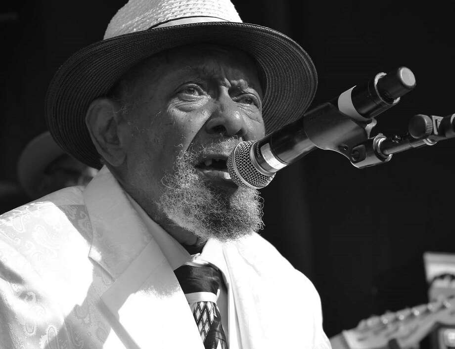"""Blues guitarist and vocalist Sonny Rhodes is one of the pioneering Bay Area musicians featured in """"Evolutionary Blues ... West Oakland's Musical Legacy,"""" screening at the Oakland Film Festival on April 5 and 7. Photo: Courtesy Cheryl Fabio"""