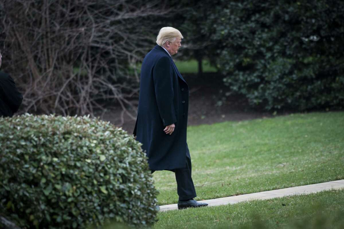 President Donald Trump walks to the White House amid a media storm over porn star Stormy Daniels. A reader recalls that Trump is not the first president to be accused of adultery.