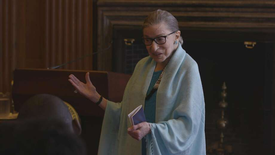 Supreme Court Justice Ruth Bader Ginsburg is profiled in the documentary ÒRBG.Ó  Photo: SFFilm Photo: SFFilm