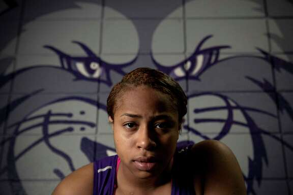 Humble High School senior Eloni Sowell poses for a portrait on Tuesday, March 20, 2018, in Humble. Sowell is the Houston Chronicle's All Greater Houston Girls Wrestler of the Year.