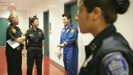 San Antonio Police Department held a recruiting event for women at Palo Alto College in 2009. There has been some incremental progress in total numbers, but of 2,296 officers in the San Antonio Police Department, three women are lieutenants and 11 women have made sergeant.