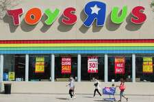Shoppers are seen as Toys 'R' Us began its liquidation sale after the company announced it was filing for bankruptcy and closing more than 700 stores across the United States.