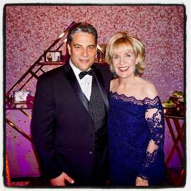 SF Conservatory of Music President David Stull and Centennial Gala chairwoman Jan Buckley. March 19, 2018.