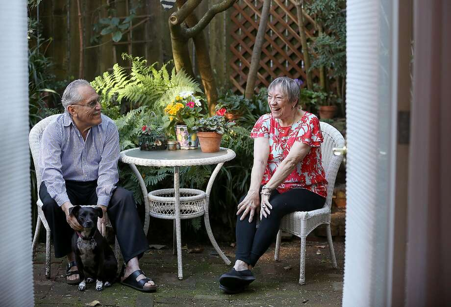 Rodolfo and Karen Cancino turned a bedroom in their S.F. house with a separate entrance into an Airbnb rental. Photo: Liz Hafalia, The Chronicle