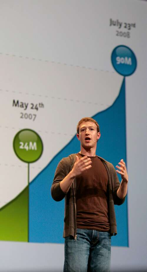 Facebook founder Mark Zuckerberg, here at a 2008 conference, encouraged developers to tap into users' data, and the explosion of apps, from games and quizzes to job boards and voter signup tools, helped fuel Facebook's growth. Photo: Kim Komenich, The Chronicle
