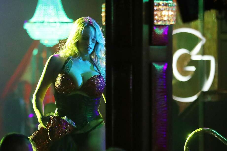 "Stormy Daniels performs this month at the Solid Gold Fort Lauderdale strip club in Pom pano Beach, Fla. She'll be interviewed Sunday on ""60 Minutes."" Photo: Joe Raedle, Getty Images"