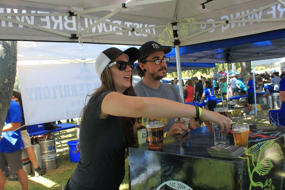 Customers enjoy the offerings at the Lodi Craft Beer Festival. Photo: Lodi Craft Beer Festival
