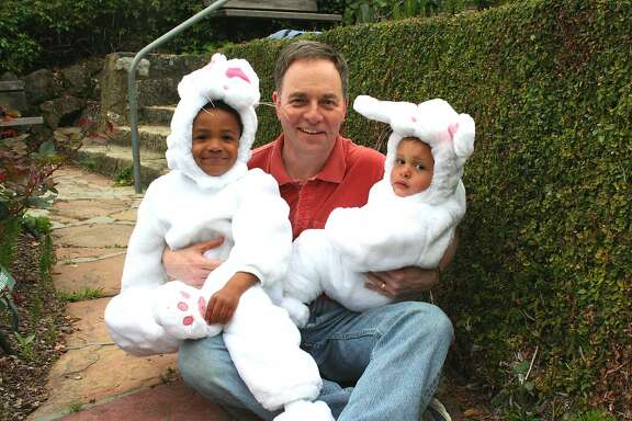 Easter bunnies ready for the egg hunt.