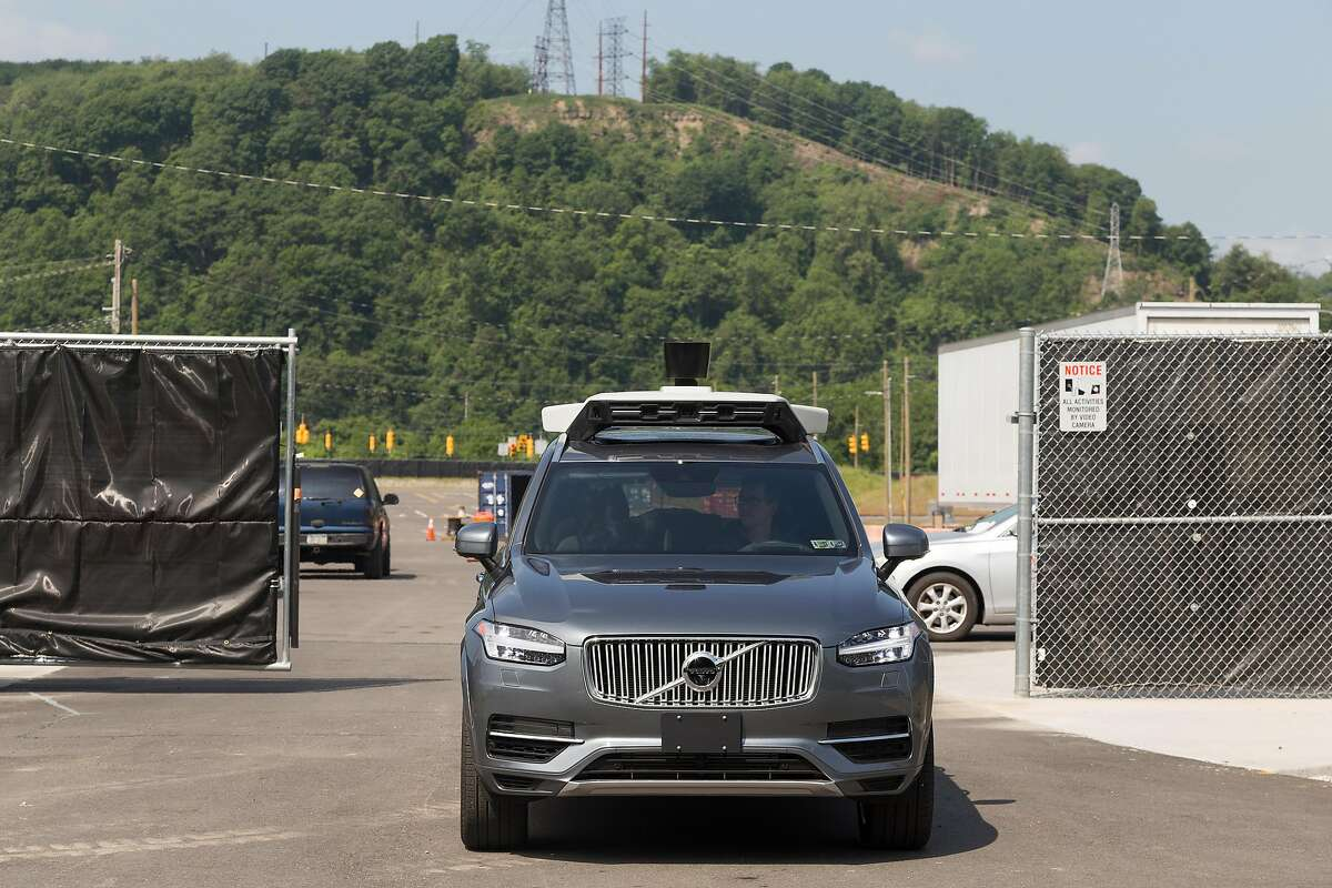 FILE -- An Uber self-driving car navigating a test site in Pittsburgh�s Hazelwood neighborhood, May 11 2017. Uber�s robotic vehicle project was not living up to expectations months before a self-driving car operated by the company struck and killed a woman in Arizona in March 2018. (Tom M. Johnson/The New York Times)