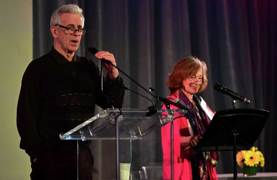 Actor James Naughton and author Carole Schweid give a stage reading of Magic during the Westport Library ExperienceFLEX event FLEX: Unplugged Friday, March 23, 2018, in Westport, Conn. Photo: Erik Trautmann / Hearst Connecticut Media / Norwalk Hour