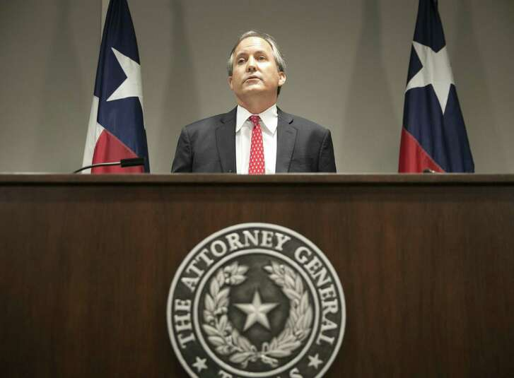 FILE - Republican Texas Attorney General Ken Paxton, pictured in 2016, filed a lawsuit hours after Gov. Greg Abbott signed Senate Bill 4 to require law enforcement to adhere to federal requests to detain people suspected of being in the country illegally. However, the law had yet to go into effect. (Jay Janner/Austin American-Statesman via AP)