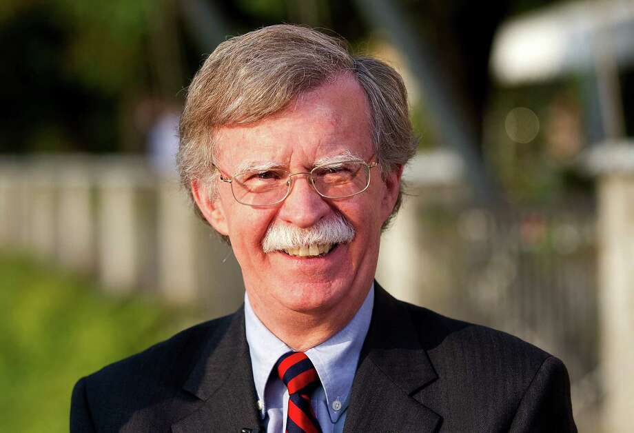 FILE: John Bolton, former U.S. ambassador to the United Nations and senior fellow at the American Enterprise Institute, pauses during a television interview at the Ambrosetti Workshop in Cernobbio, near Como, Italy, on Friday, Sept. 2, 2011. President Donald Trump is replacing White House National Security Adviser H.R. McMaster with Bolton, a former U.S. Ambassador to the United Nations famed for his hawkish views, in the latest shakeup of his administration. The move installs Trump's third national security adviser in 14 months. McMaster joined the administration a year ago after Trump fired his predecessor, Michael Flynn, for lying to the vice president about contacts with Russia. Our editors select the best archive images on Bolton and McMaster. Photographer: Simon Dawson/Bloomberg Photo: Simon Dawson / © 2018 Bloomberg Finance LP