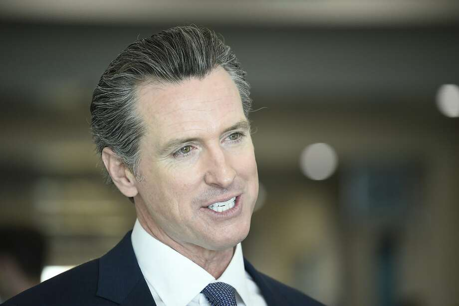 Democratic gubernatorial candidate Gavin Newsom at the Democratic State Convention on Feb. 24 in San Diego. Photo: Denis Poroy, Associated Press