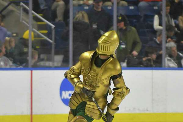 2018 NCAA Men's Ice Hockey Regional Game action between the Clarkson Golden Knights and the Providence Friars at Webster Bank Arena on Friday March 23, 2018, in Bridgeport, Connecticut.