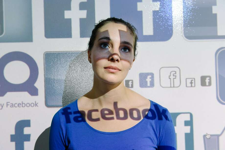 Electronic Frontier Foundation researcher Gennie Gebhart advises people to change their settings on Facebook to ensure maximum privacy. Photo: Michael Short, Special To The Chronicle