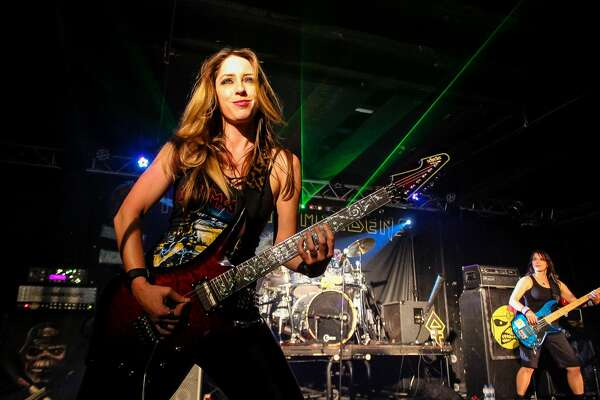 The all-female Iron Maiden tribute band with a fanbase of rabid and dedicated fans lit up Alamo City Music Hall Friday night, March 23, 2018.