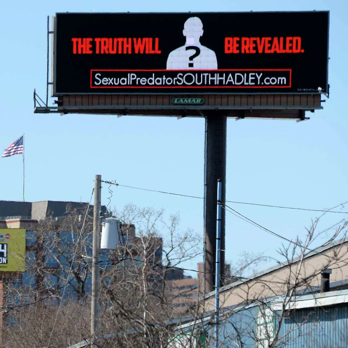 Electronic billboard along I787 calls for the passage of the Child Victims Act Saturday March 24, 2018 in Albany, NY. (John Carl D'Annibale/Times Union)