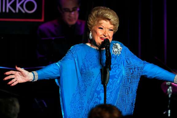 Marilyn Maye performs at Feinstein's at the Nikko Hotel in San Francisco, Calif., on Friday, March 23, 2018.