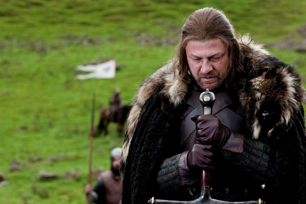 """During the first season of """"Game of Thrones,"""" Clapton used a wool rug from IKEA to fashion a """"fur"""" cape like the one worn by Ned Stark (Sean Bean)."""