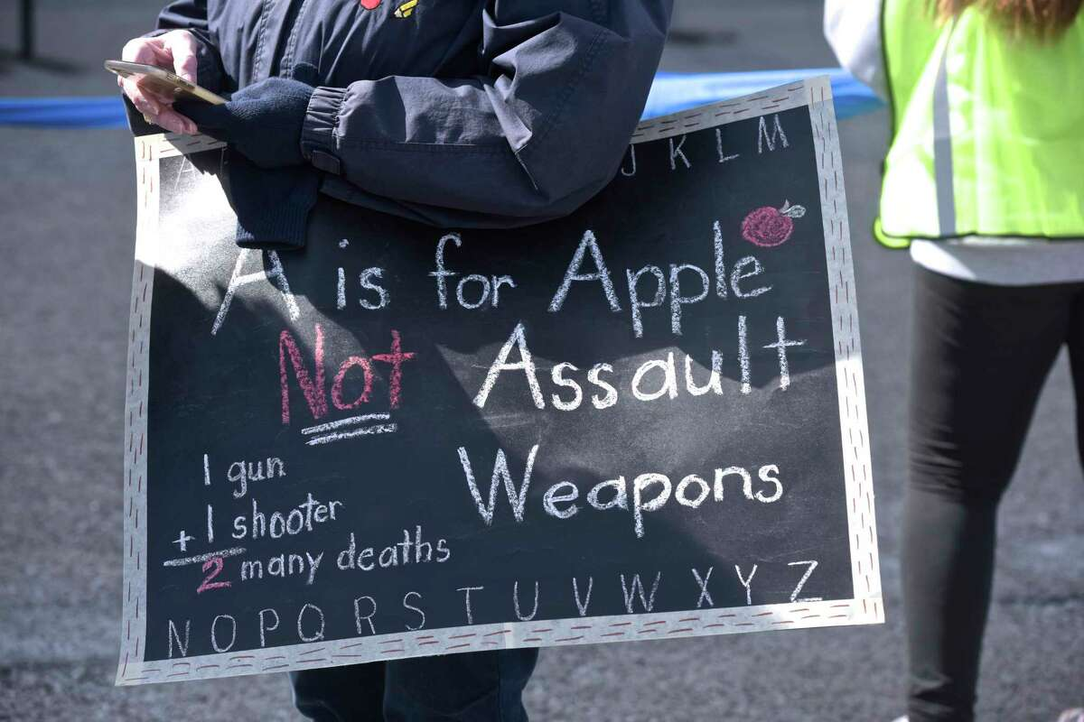 Photograph from the March for Our Lives rally, in Hartford, on Saturday, which an anti-gun-violence rally organized by students. At least nine marches are scheduled to take place in Connecticut in conjunction with the March for Our Lives in Washington, D.C., with hundreds more planned across the country. Saturday, March 24, 2018, in Hartford, Conn.