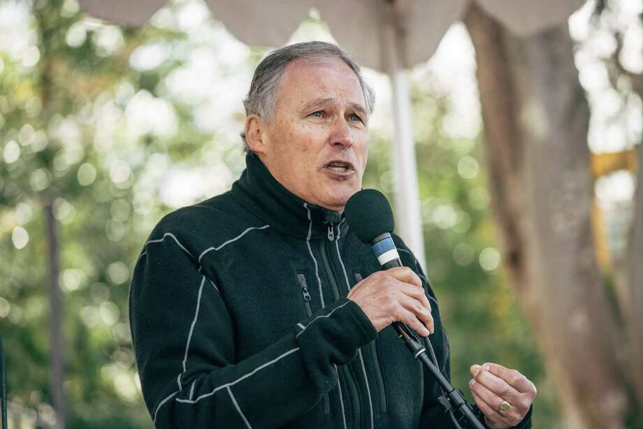 Washington governor Jay Inslee is thinking about running for President. Democratic caucus-goers in Iowa have not warmed to him -- Inslee received less than 1 percent in first Des Moiners Register poll on the Democrats' 2020 field.  Photo: GRANT HINDSLEY, SEATTLEPI.COM / SEATTLEPI.COM