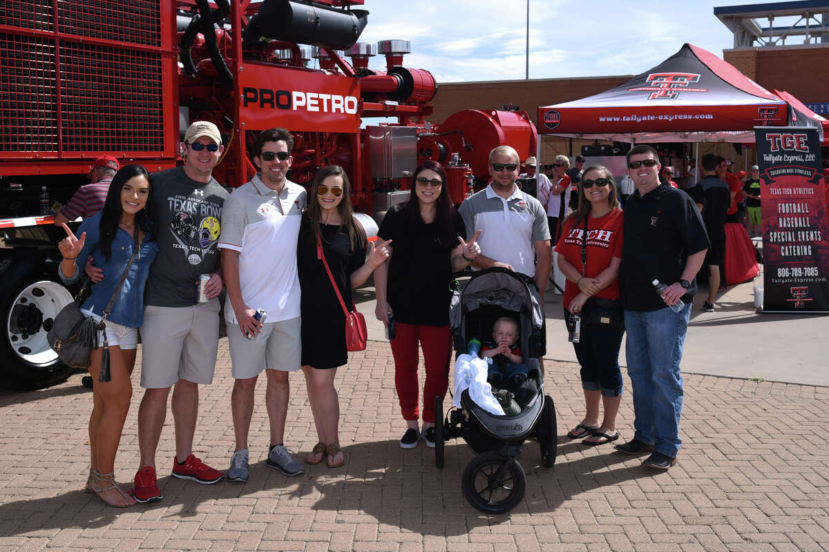 ProPetro booth at the Texas Tech spring scrimmage tailgate photographed March 24, 2018, at the Scharbauer Sports Complex. James Durbin/Reporter-Telegram