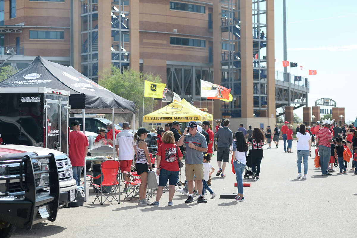 Texas Tech spring scrimmage tailgate festivities photographed March 24, 2018, at the Scharbauer Sports Complex. James Durbin/Reporter-Telegram