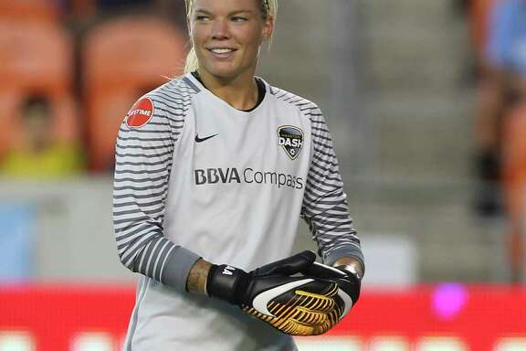 Goalkeeper Jane Campbell, left, thinks the Dash can benefit from being an unknown commodity after roster moves in the offseason. Meanwhile, forward Rachel Daly, right, likes the new structured approach coach Vera Pauw has brought to the team.
