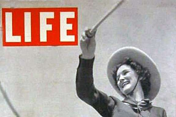 The Lassos of Thomas Jefferson High School are featured on the cover of Life Magazine in 1938. In its heyday, the magazine sold as many as 13.5 million copies a week. The following year, the teen troupe had tea with first lady Eleanor Roosevelt and embarked on a two-week national tour.