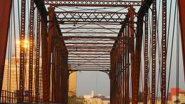 Money is being raised to restore the old Hays Street Bridge to make it part of an urban trail system. ( Joshua Trujillo / Staff )