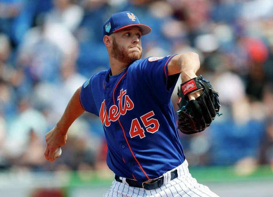 New York Mets starting pitcher Zack Wheeler works against the New York Yankees in the first inning of a spring training baseball game Wednesday, March 7, 2018, in Port St. Lucie, Fla. (AP Photo/John Bazemore) Photo: John Bazemore / Copyright 2018 The Associated Press. All rights reserved.