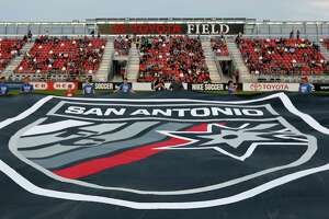 Fans attend the San Antonio FC home opener against Saint Louis FC Saturday March 24, 2018 at Toyota Field.