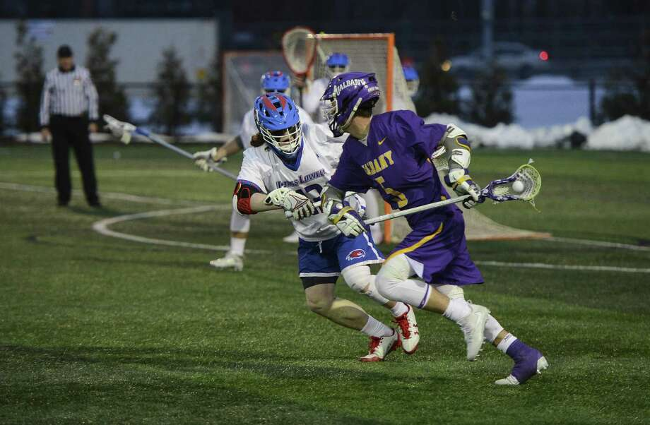 Connor Fields of UAlbany looks for a shot against UMass Lowell on Saturday. (Courtesy of UMass Lowell)