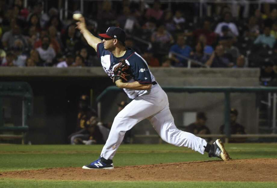 Pitcher Reinier Roibal was released Tuesday after eight games with the Tecolotes. He started the Tecos' Opening Day game in Laredo. Photo: Danny Zaragoza /Laredo Morning Times File