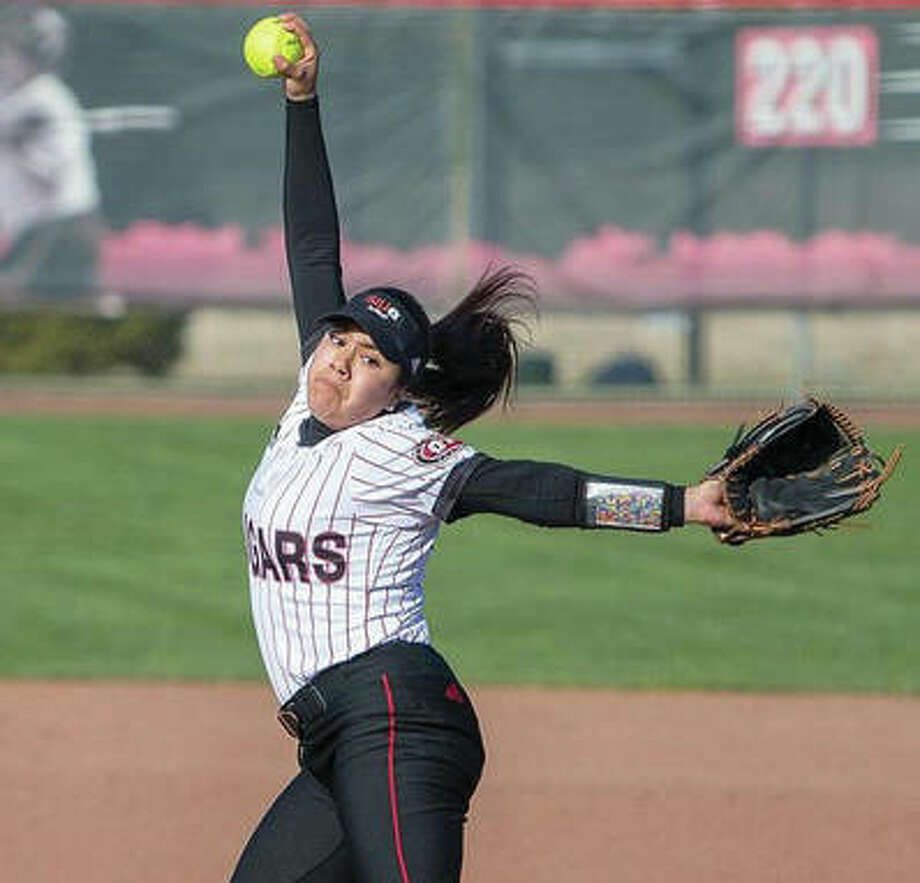 SIUE freshman Corrina Rivas threw the seventh perfect game in the program's history Saturday, beating Tennessee State 9-0 in six innings in Nashville, Tenn.
