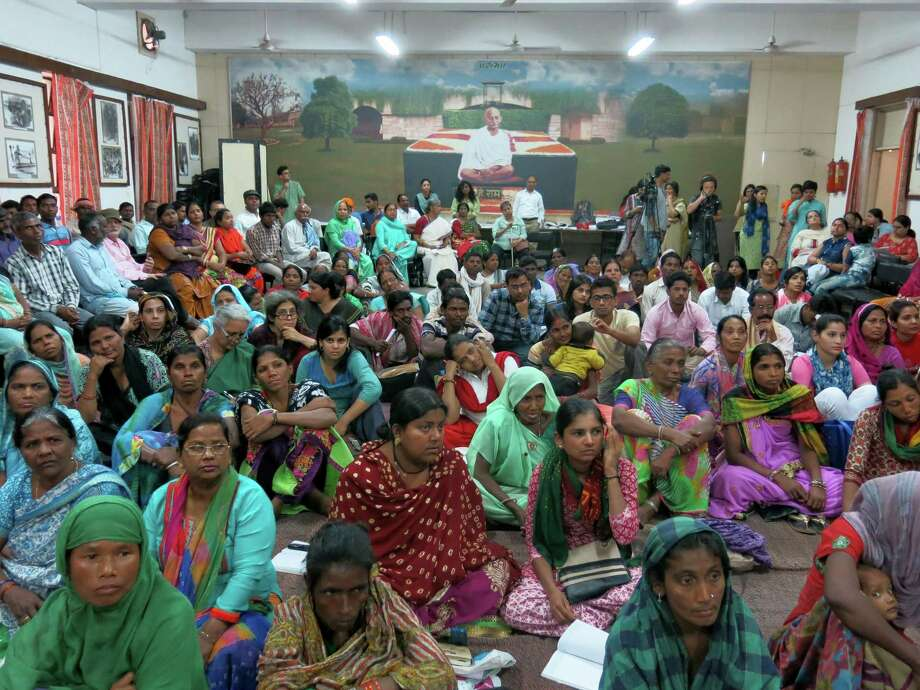In New Delhi, people came from across the country to speak at a public hearing on March 15 about how Aadhaar authentication problems were preventing them from getting food rations. Photo: Washington Post Photo By Vidhi Doshi / The Washington Post