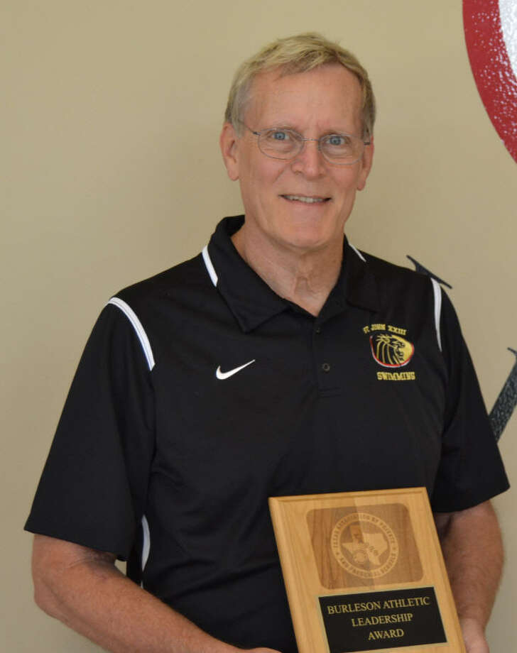 St. John XXIII Swim Coach Dana Abbott was recently chosen as the TAPPS 4A Male Coach of the Year for 2015-2016 and received the organization's Edd Burleson Leadership Award.