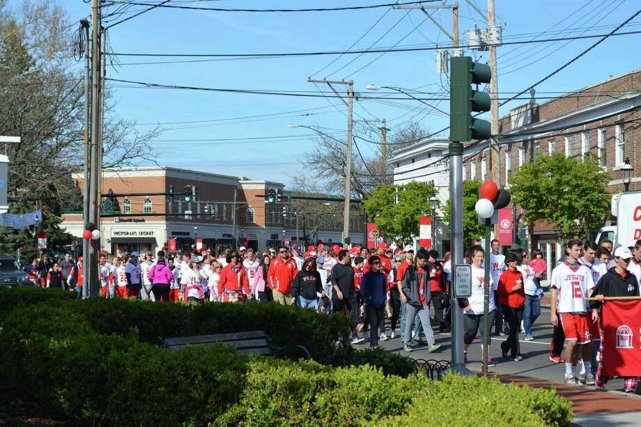 Hundreds of area residents committed to ending sexual violence will march in  support of victims and survivors on April 28, 2018, during The Center for Family  Justice's sixth annual Walk a Mile in Her Shoes event. Photo: Contributed / Center For Family Justice