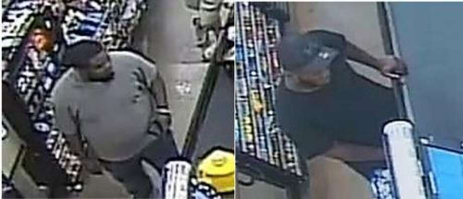 Police are looking for two suspects involved in a Feb. 23 attempt to pass counterfeit $100 bills at Kroger, 3135 FM 528. Anyone with information is asked to contact the Friendswood Police Department, 281-996-3300.